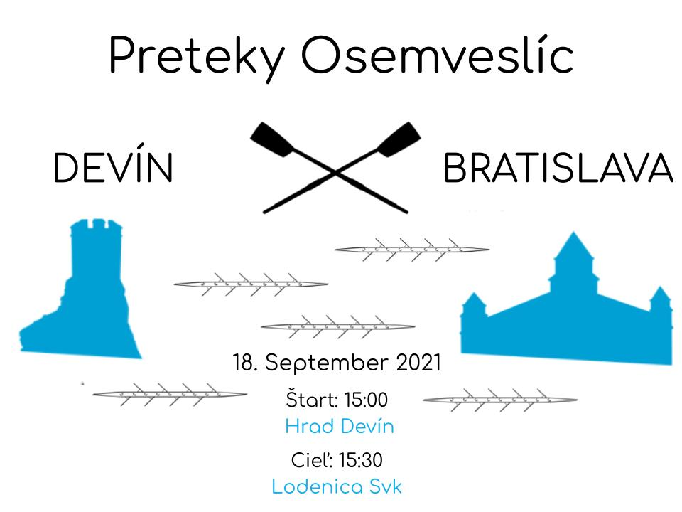 Pozvánka na pretek Devín-Bratislava 2021